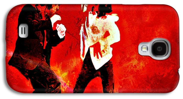 Boss Paintings Galaxy S4 Cases - Pulp Fiction Dance 2 Galaxy S4 Case by Brian Reaves