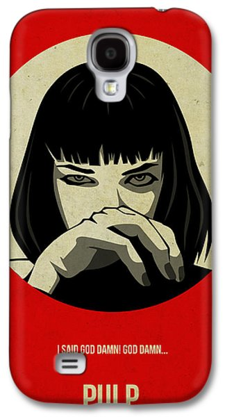 Celebrities Digital Art Galaxy S4 Cases - Pulp Fiction Poster Galaxy S4 Case by Naxart Studio