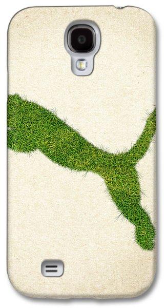 Waste Galaxy S4 Cases - Puma Grass Logo Galaxy S4 Case by Aged Pixel