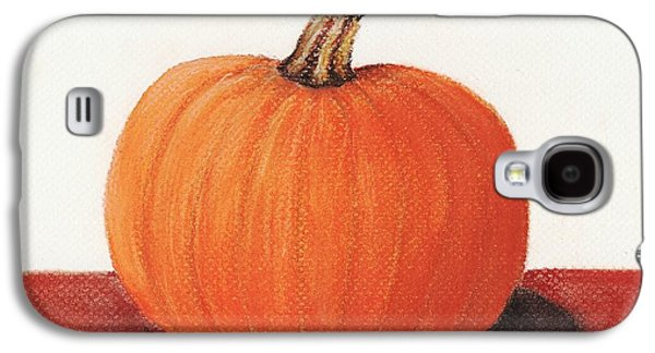 Still Life Pastels Galaxy S4 Cases - Pumpkin Galaxy S4 Case by Anastasiya Malakhova