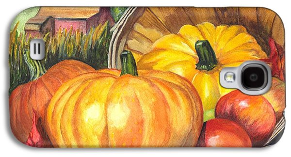 Joyful Drawings Galaxy S4 Cases - Pumpkin Pickin Galaxy S4 Case by Carol Wisniewski