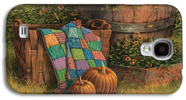 Quilt Galaxy S4 Cases - Pumpkins and Patches Galaxy S4 Case by Michael Humphries