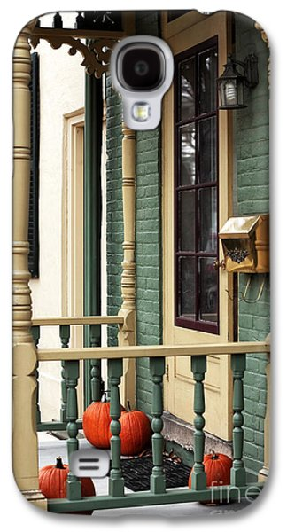 Old School Houses Galaxy S4 Cases - Pumpkins on the Porch Galaxy S4 Case by John Rizzuto