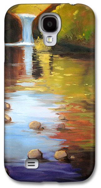 Beautiful Creek Paintings Galaxy S4 Cases - Punch Bowl Reflection Galaxy S4 Case by Nancy Merkle