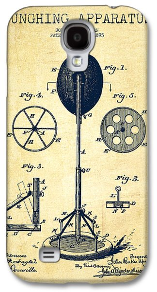 Boxing Digital Galaxy S4 Cases - Punching Apparatus Patent Drawing from 1895 -Vintage Galaxy S4 Case by Aged Pixel