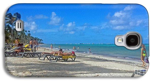 Beach Landscape Galaxy S4 Cases - Punta Cana Beach Galaxy S4 Case by Kay Novy