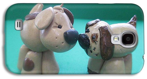 Puppies Digital Galaxy S4 Cases - Puppy Love Galaxy S4 Case by Barbara Snyder