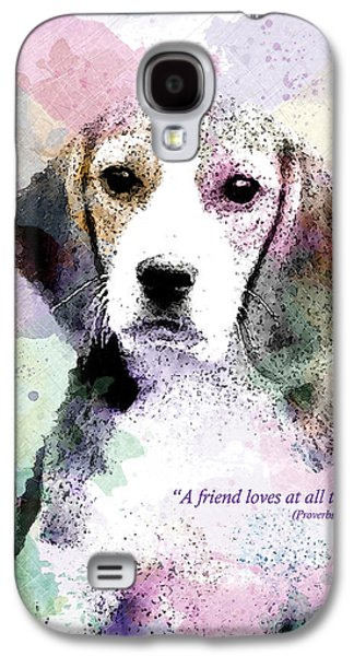 Cute Puppy Galaxy S4 Cases - Puppy Love Galaxy S4 Case by Gary Bodnar