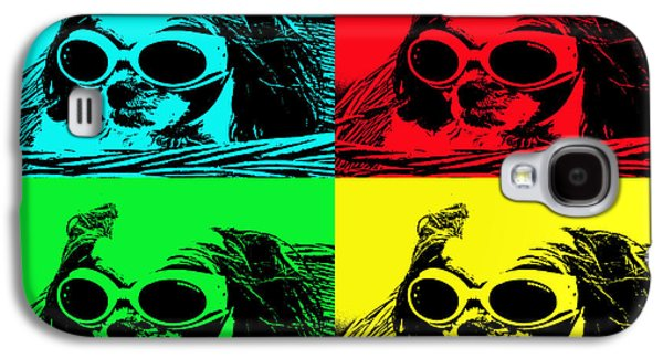 Puppies Digital Galaxy S4 Cases - Puppy Mania Pop Art Galaxy S4 Case by Ella Kaye Dickey