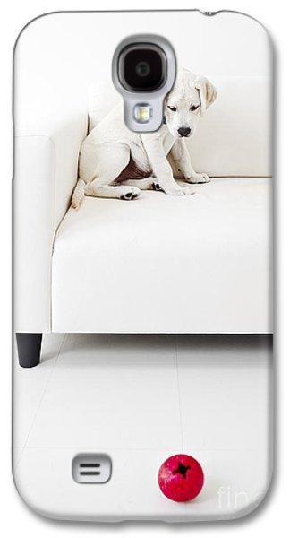 Puppy Problems Galaxy S4 Case by Diane Diederich
