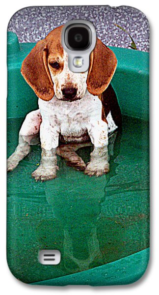 Canine Greeting Cards Digital Galaxy S4 Cases - Puppy Refection  Galaxy S4 Case by Lynn Griffin