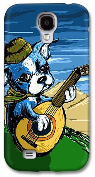 Puppy Digital Art Galaxy S4 Cases - Puppy Serenade Galaxy S4 Case by Devin Hermanson