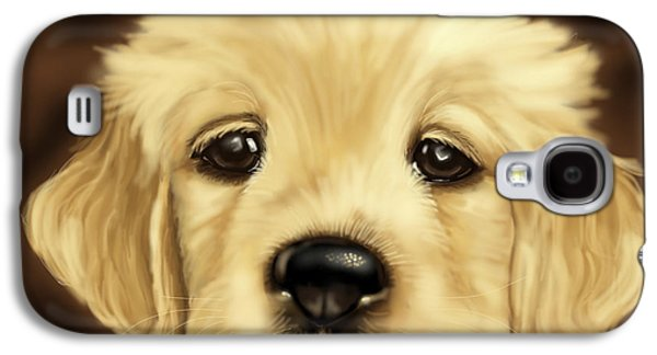 Puppy Digital Art Galaxy S4 Cases - Puppy Galaxy S4 Case by Veronica Minozzi