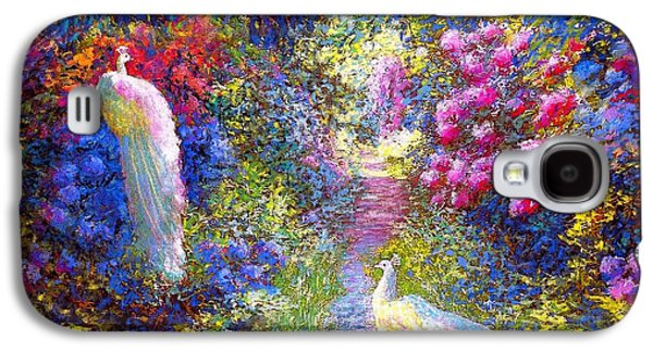 White Peacocks, Pure Bliss Galaxy S4 Case by Jane Small