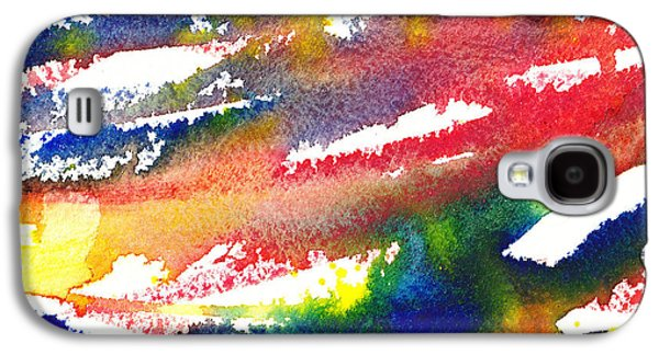 Abstract Pattern Paintings Galaxy S4 Cases - Pure Color Inspiration Abstract Painting Blizzard Born Galaxy S4 Case by Irina Sztukowski