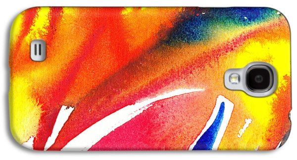 Abstract Pattern Paintings Galaxy S4 Cases - Pure Color Inspiration Abstract Painting Enchanted Crossing Galaxy S4 Case by Irina Sztukowski