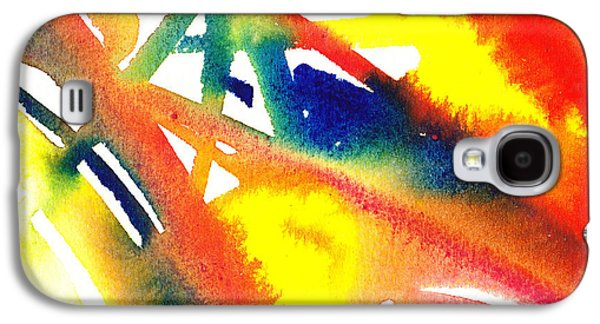 Glides Galaxy S4 Cases - Pure Color Inspiration Abstract Painting Flamboyant Glide  Galaxy S4 Case by Irina Sztukowski