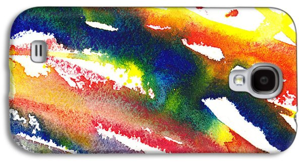 Abstract Pattern Paintings Galaxy S4 Cases - Pure Color Inspiration Abstract Painting Streaming Hue Galaxy S4 Case by Irina Sztukowski