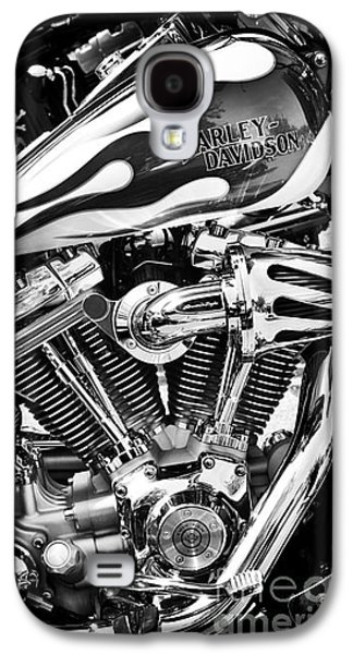 Vehicles Photographs Galaxy S4 Cases - Pure Harley Chrome Galaxy S4 Case by Tim Gainey