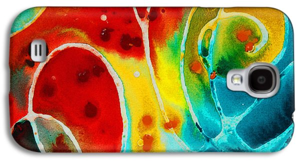 Business Galaxy S4 Cases - Pure Joy 1 - Abstract Art By Sharon Cummings Galaxy S4 Case by Sharon Cummings