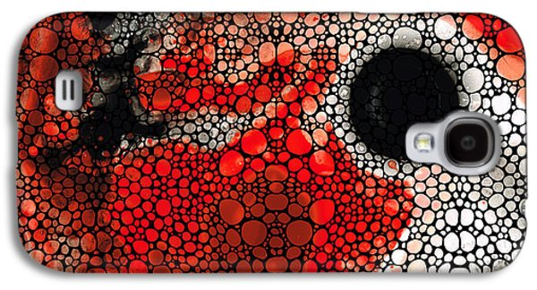 Pure Passion 2 - Stone Rock'd Red And Black Art Painting Galaxy S4 Case by Sharon Cummings