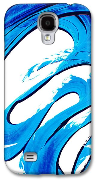 Pure Water 315 - Blue Abstract Art By Sharon Cummings Galaxy S4 Case by Sharon Cummings