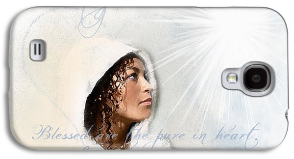 Spiritual Portrait Of Woman Digital Art Galaxy S4 Cases - Purity Galaxy S4 Case by Jennifer Page