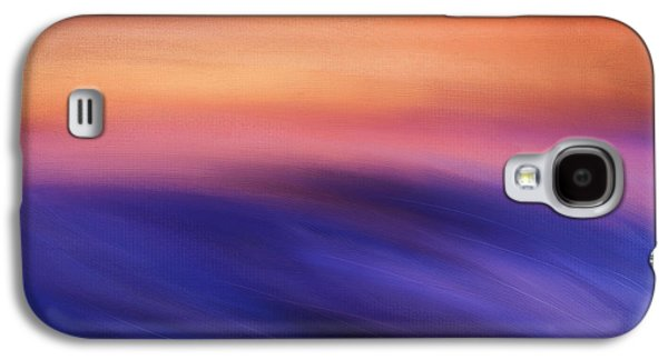 Sunset Abstract Digital Galaxy S4 Cases - Purple Beauty Galaxy S4 Case by Lourry Legarde