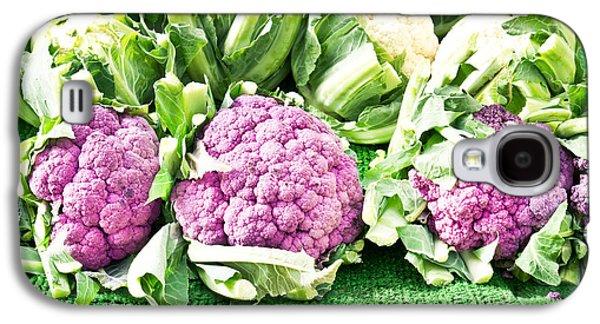 Purple Cauliflower Galaxy S4 Case by Tom Gowanlock