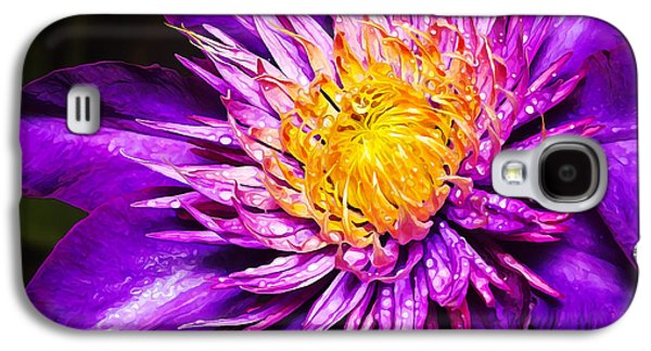 Photo Manipulation Galaxy S4 Cases - Purple Clematis Flower Galaxy S4 Case by Bill Caldwell -        ABeautifulSky Photography