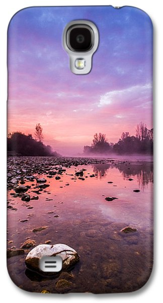 Landscapes Photographs Galaxy S4 Cases - Purple Dawn Galaxy S4 Case by Davorin Mance