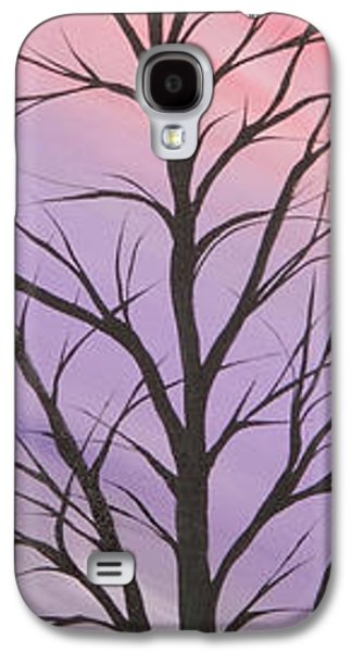 Landscape Acrylic Prints Galaxy S4 Cases - Purple day Galaxy S4 Case by Roni Ruth Palmer