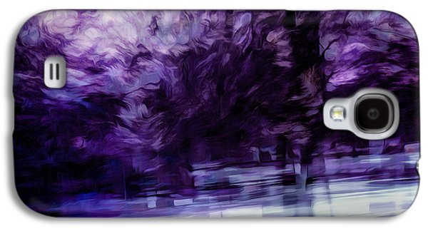 Abstract Movement Galaxy S4 Cases - Purple Fire Galaxy S4 Case by Scott Norris