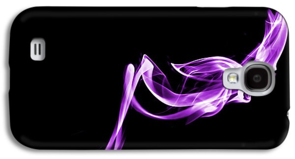 Abstract Digital Photographs Galaxy S4 Cases - Purple Flash Galaxy S4 Case by Christine Smart
