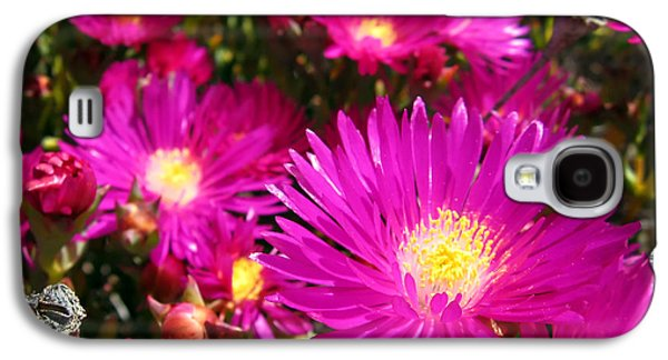 Light Pyrography Galaxy S4 Cases - Purple flowers Galaxy S4 Case by Jelena Jovanovic