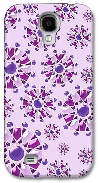 Pink Digital Art Galaxy S4 Cases - Purple Gems Galaxy S4 Case by Anastasiya Malakhova