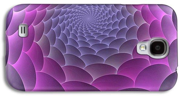 Gradient Galaxy S4 Cases - Purple Gradient Galaxy S4 Case by Anastasiya Malakhova