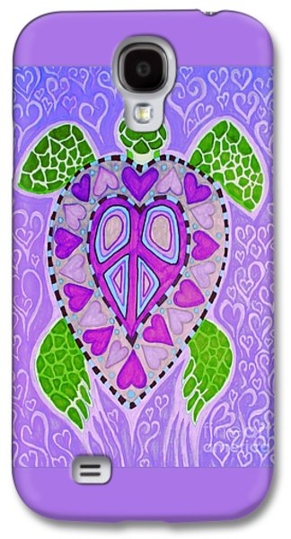 Reptiles Drawings Galaxy S4 Cases - Purple Heart Turtle Galaxy S4 Case by Nick Gustafson