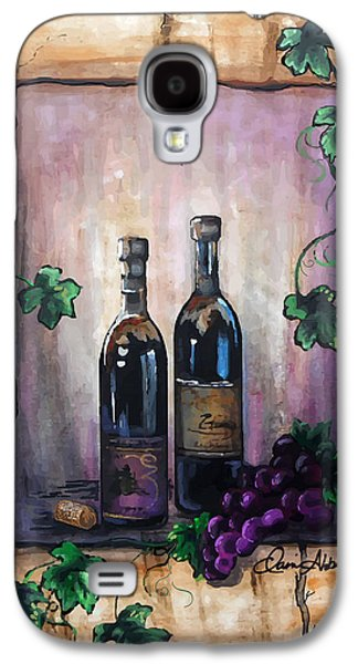Red Wine Prints Galaxy S4 Cases - Purple Memories Galaxy S4 Case by Danise Abbott