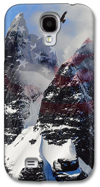 Brave Mixed Media Galaxy S4 Cases - Purple Mountain Majesties Galaxy S4 Case by Daniel Hagerman