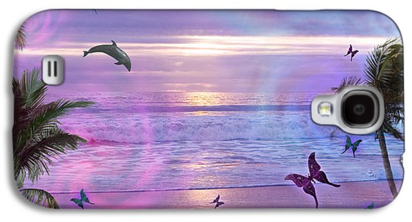 Alixandra Mullins Galaxy S4 Cases - Purple Ocean Dream Galaxy S4 Case by Alixandra Mullins