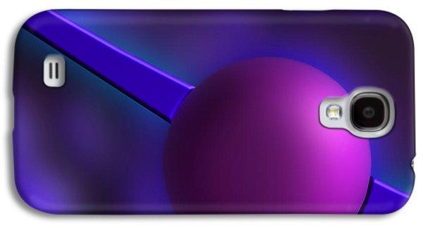 Abstract Digital Galaxy S4 Cases - Purple Orb Galaxy S4 Case by Paul Wear