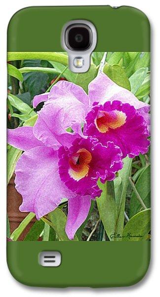 Purple Cattleya Orchids Galaxy S4 Case by Ellen Henneke