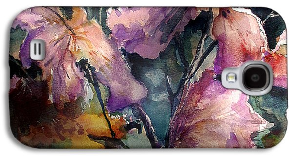 Windblown Paintings Galaxy S4 Cases - Garden Study Galaxy S4 Case by John  Mabry