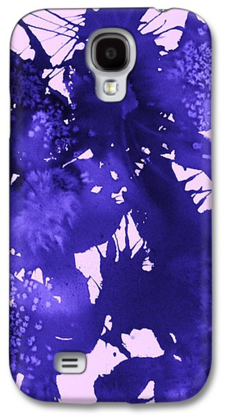 Splashy Art Galaxy S4 Cases - Purple Passion Galaxy S4 Case by Ellen Levinson