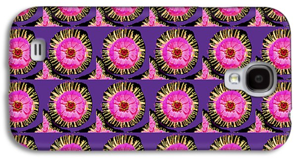 Etc. Mixed Media Galaxy S4 Cases - Purple Pink Flower Pattern decoration Background Designs  and Color Tones n Color Shades available f Galaxy S4 Case by Navin Joshi