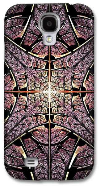 Door Galaxy S4 Cases - Purple Shield Galaxy S4 Case by Anastasiya Malakhova
