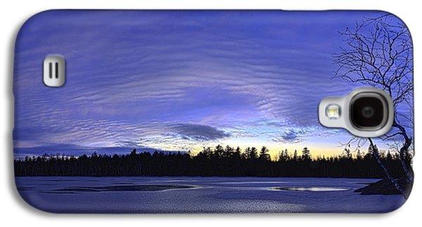 Maine Winter Galaxy S4 Cases - Purple Twilight Panorama Galaxy S4 Case by Bill Caldwell -        ABeautifulSky Photography