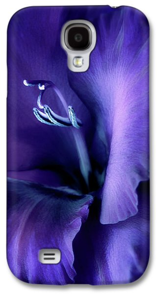 Gladiolas Galaxy S4 Cases - Purple Velvet Gladiolus Flower Galaxy S4 Case by Jennie Marie Schell