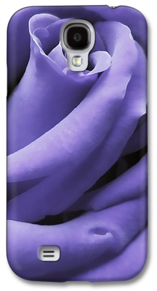 Close Photographs Galaxy S4 Cases - Purple Velvet Rose Flower Galaxy S4 Case by Jennie Marie Schell
